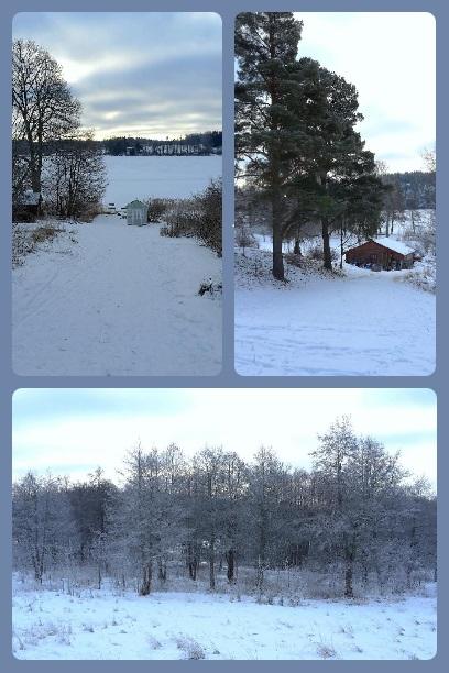 Vintervyer från mitt Rönninge.